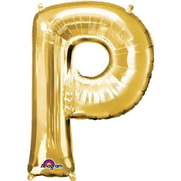 SuperShape Letter P - Gold